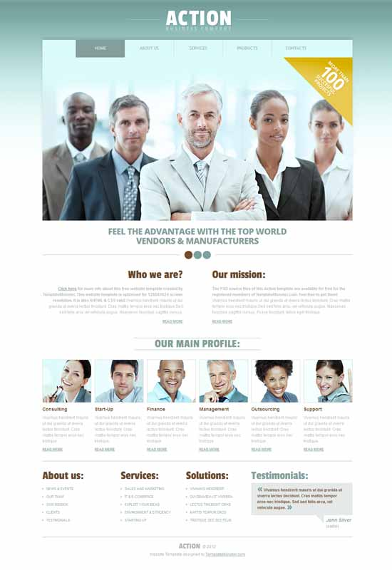 best business consulting website templates free premium 2016