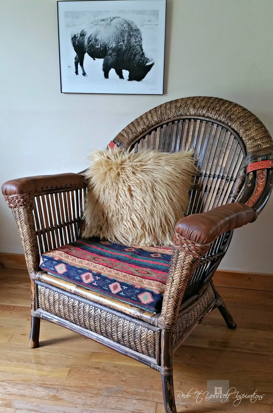 pier 1 wicker and rattan chair makeover redo it yourself
