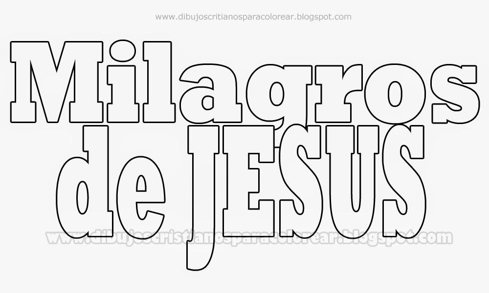 Los Milagros De Jesus Para Colorear Dibujos Para