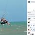 Italiano morre após cair de altura de 30 metros enquanto praticava kitesurf em praia de Porto Seguro