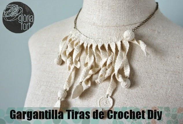 Gargantilla Tiras de Crochet Tutorial