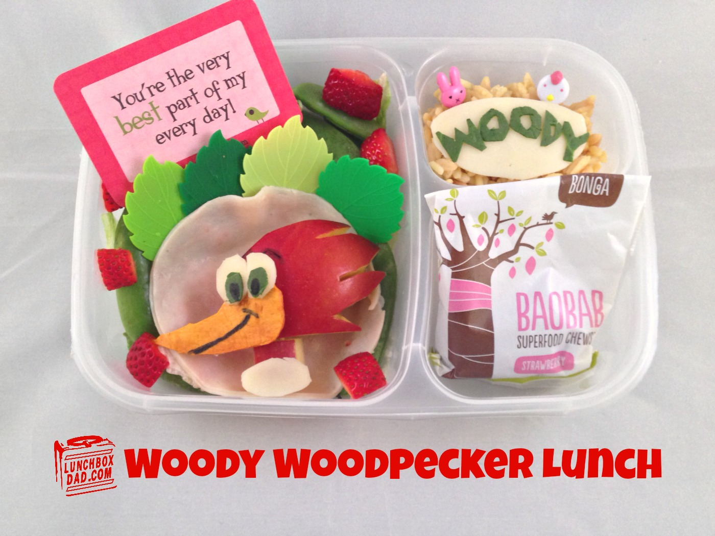 Woody Woodpecker Bento Lunch for kids