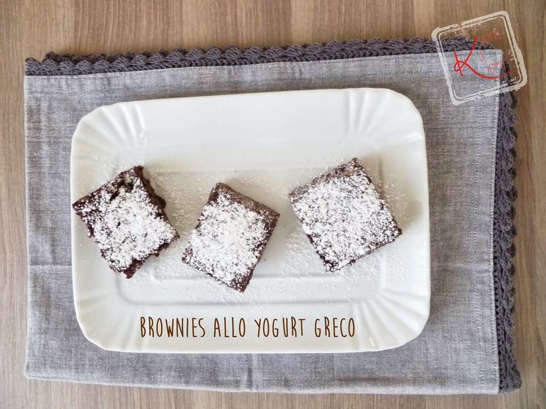 Brownies allo yogurt greco kucina di kiara for Cucinare yogurt greco