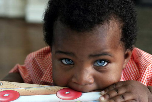 Black Baby With Blue Eyes | Right Shot in the Right Time