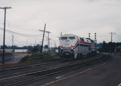 Amtrak P42DC #120 in Vancouver, Washington, in Summer 1998