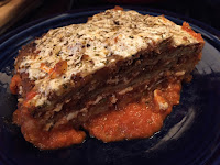 Jersey City Vegetarian: eggplant parm serving