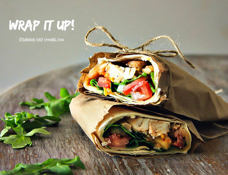 Mesquite Chicken Wrap #Recipe #foodie #food