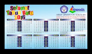 Kalender Operator Sekolah (OPS) 2016 SD, SMP, SMA