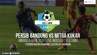 Live Streaming Persib Bandung vs Mitra Kukar