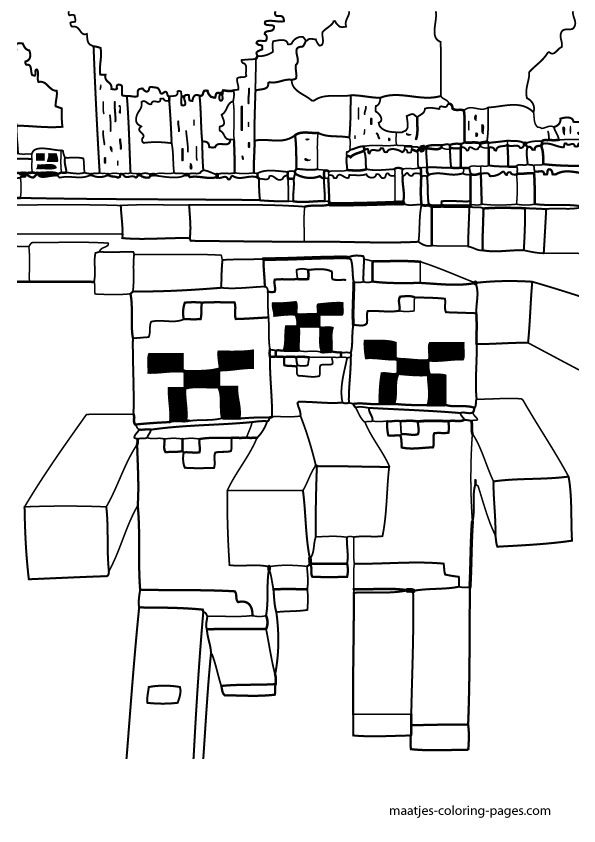 Free minecraft steve 39 s head coloring pages for Skydoesminecraft coloring pages