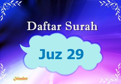 surah dengan jumlah ayat terbanyak yaitu Surah Al Daftar Surah Juz 29 dan Artinya