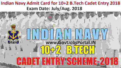 Indian navy admit card 2018