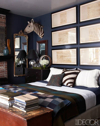 Bedroom Color Palette Ideas: Alive & Kicking: Elle Decor: Collective Effort