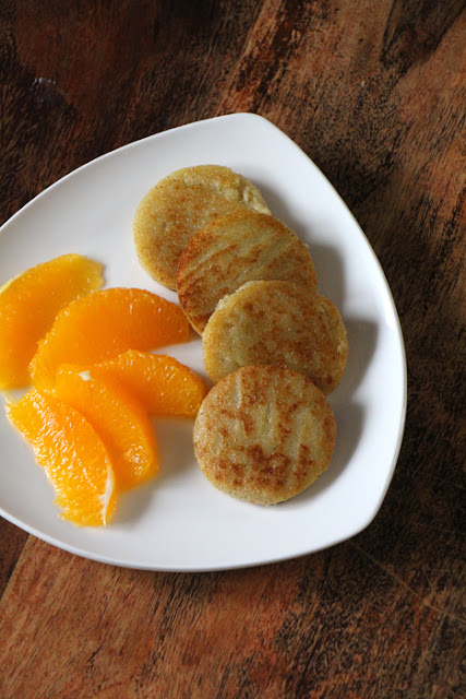Grießtaler mit Orangenfilets