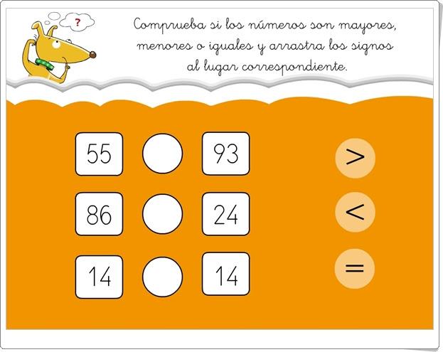 """""""¿Mayor, menor o igual?"""" (Juego de comparación de números hasta el 100)"""