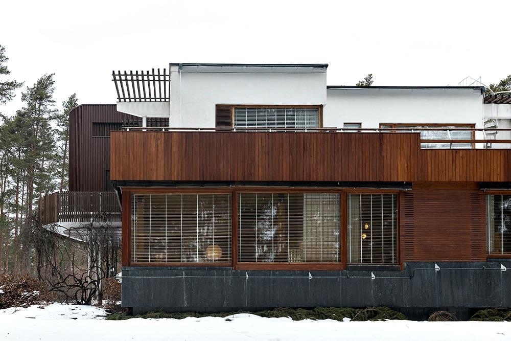 Alvar Aalto, Villa Mairea, Noormarkku, Ahlströmin ruukki, arkkitehtuuri, suomalainen, Finnish design, Aalto, architecture, talvi