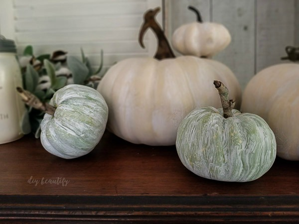 muted pumpkins are perfect for farmhouse decorating