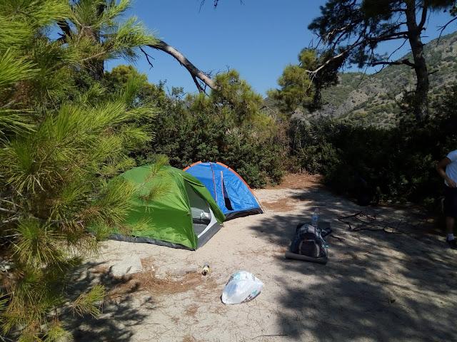 Muğla Ölüdeniz'de Kamp
