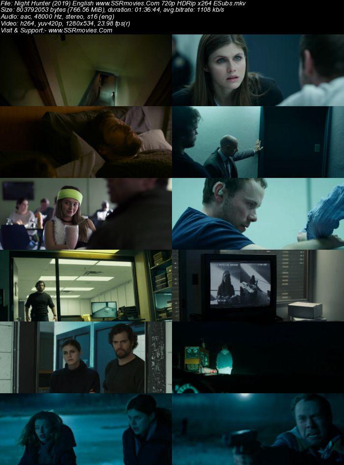 Night Hunter (2019) English 720p HDRip x264 750MB Movie Download