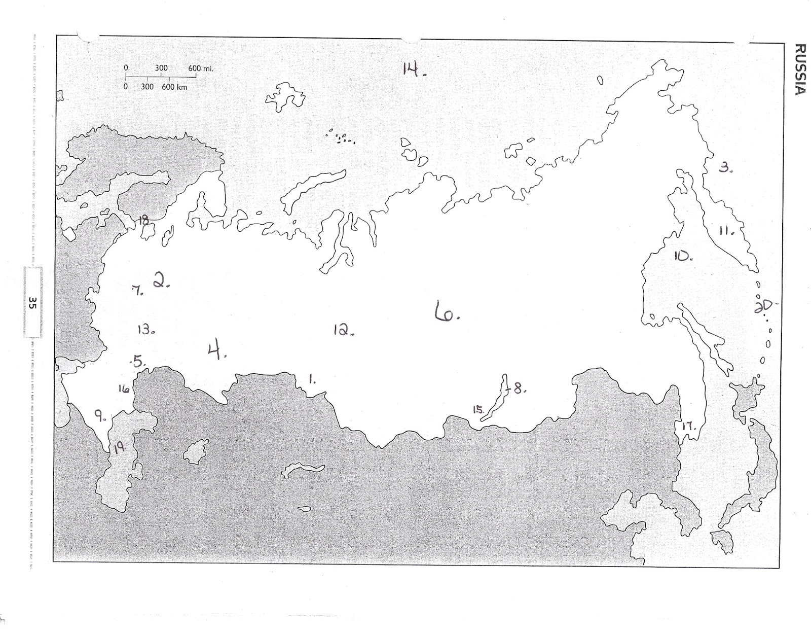 russia map blank numeric