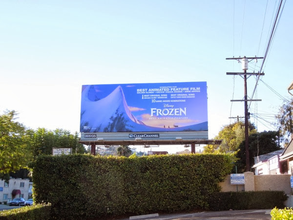 Frozen awards billboard