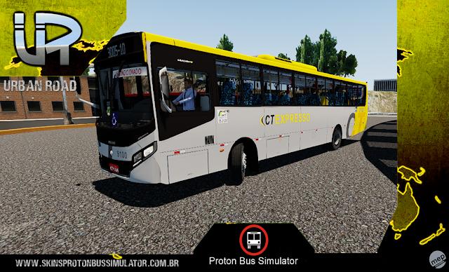Skin Proton Bus Simulator - Apache VIP IV VW 17.230 OD Euro IV Central Expresso Brasilia