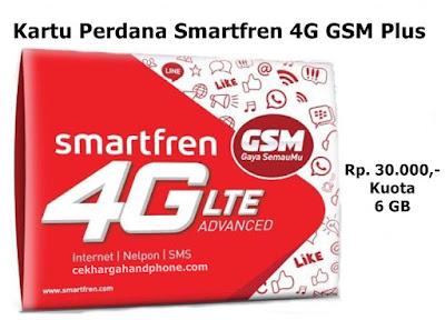 Kartu Perdana Smartfren 4G GSM Plus