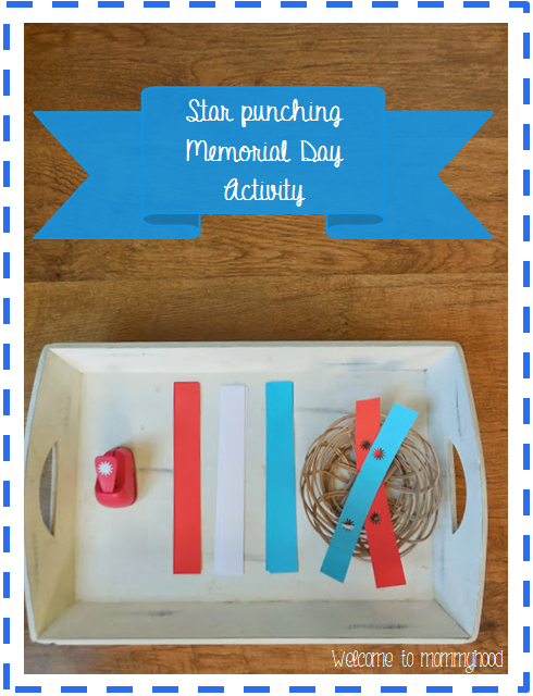 Memorial Day Activities: fine motor practice by Welcome to Mommyhood