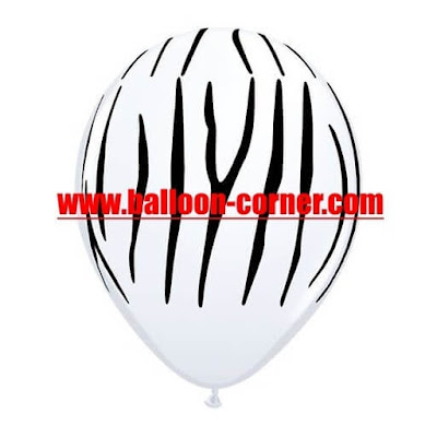 Balon Latex Printing ZEBRA