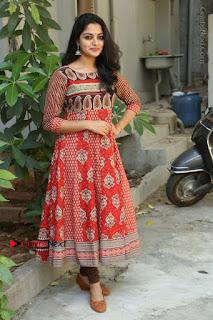 Telugu Actress Nikhila Vimal Latest Stills in Anarkali Dress  0211.JPG