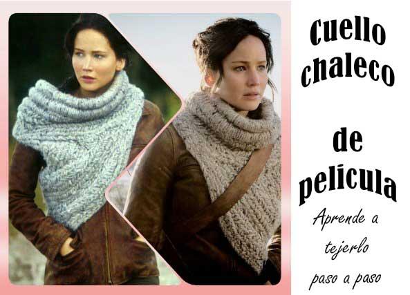 Cuello-chaleco a ganchillo de Katniss de la pelicula Juegos de hambre