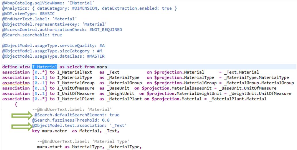 S/4 HANA F4 Help values, Key & Text display in ABAP CDS Views based