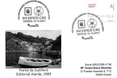 XVI Exposición de coleccionismo  filatelia en el Centro Asturiano de Oviedo, aniversario de Amigos de Cudillero