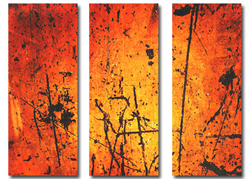 orange, industrial, urban decay, wall art, orange canvas art, abstract art, industrial art, modern, art, Sam Freek,