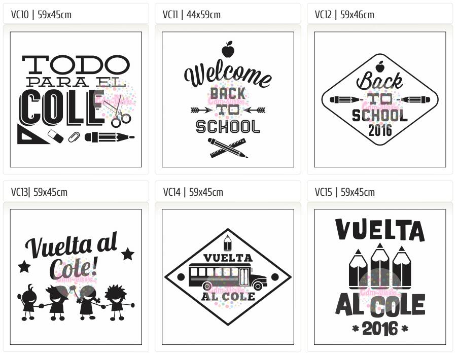 cdm-vinilos cdm-vinilos Vidiera Escolar, Carteles, Back to School, Vuelta al Cole 2016, Vidrieras, vinilos decorativos