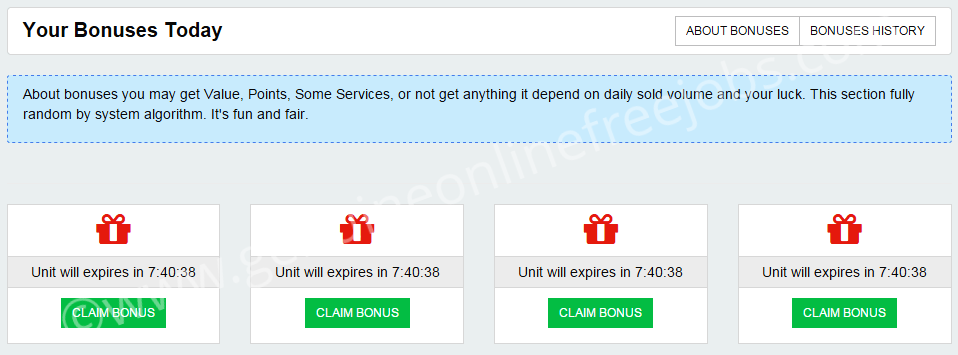 Dig bonus | Click claim bonus to unlock the reward