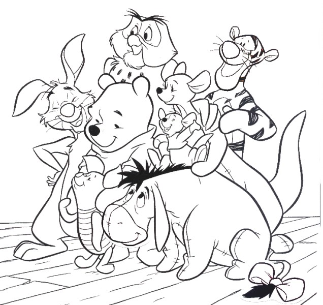 coloring pages pooh bear - photo#22