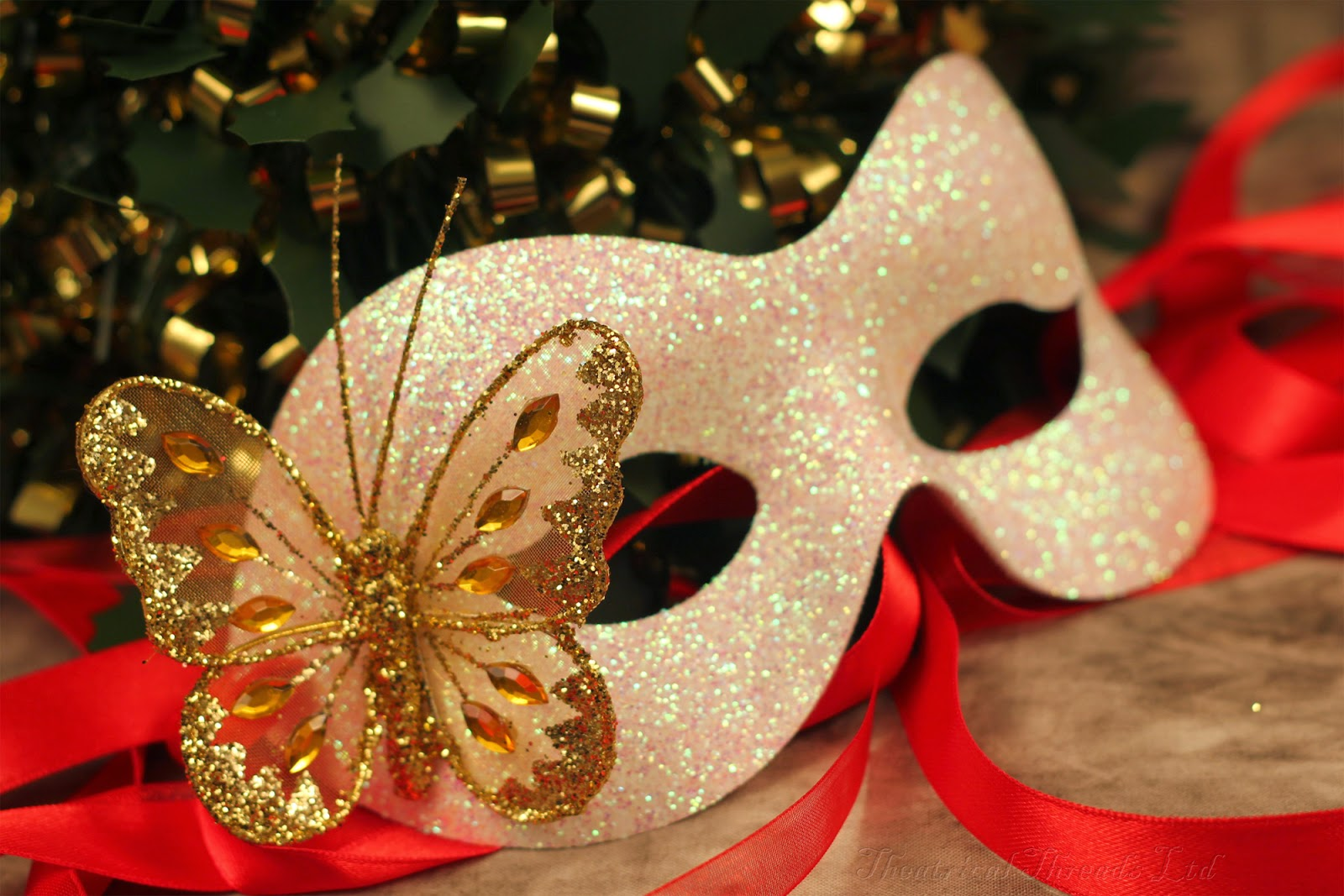 Christma Masquerade Masks from Theatrical Threads