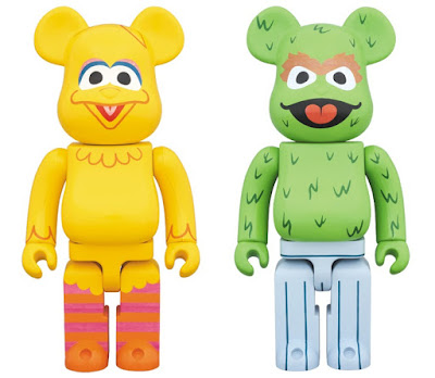 Sesame Street Big Bird & Oscar the Grouch Be@rbrick Vinyl Figures by Medicom