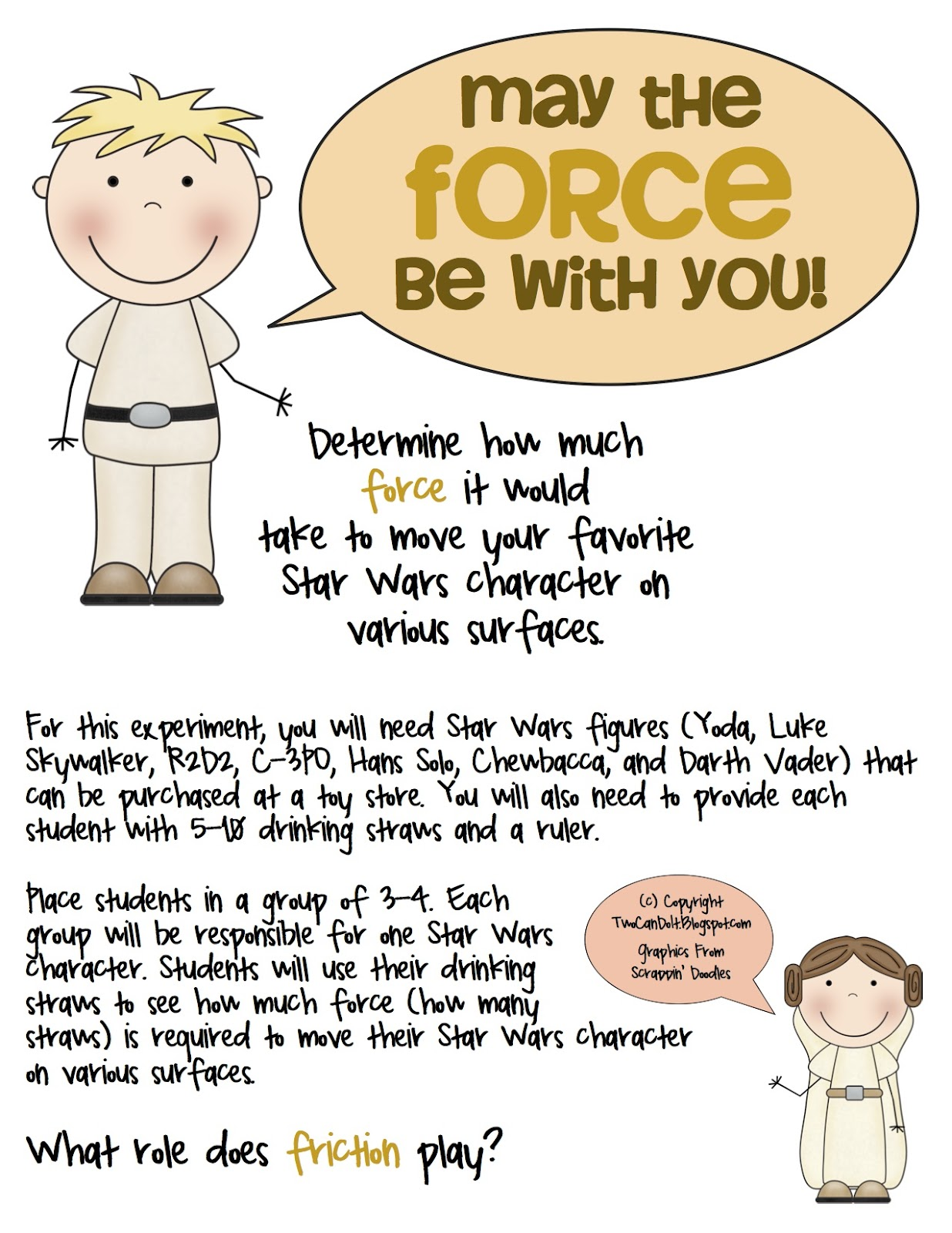 Two Can Do It Forces And Friction Star Wars Edition