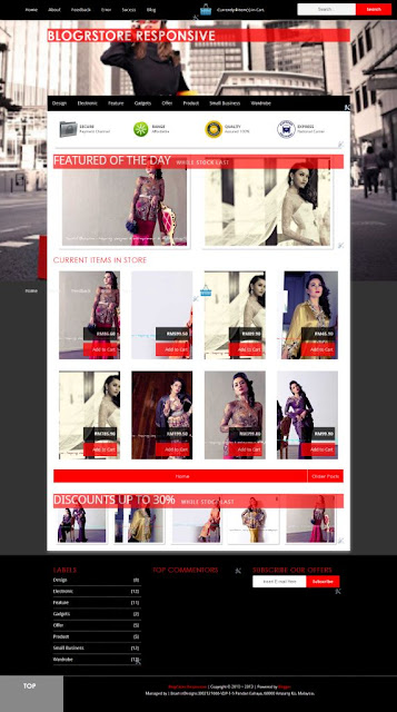 Sneak Preview BlogrStore Responsive Blogshop Template