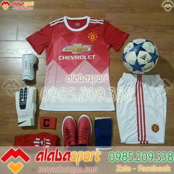 áo đá bóng màu đỏ của câu lạc bộ Mu training 2019