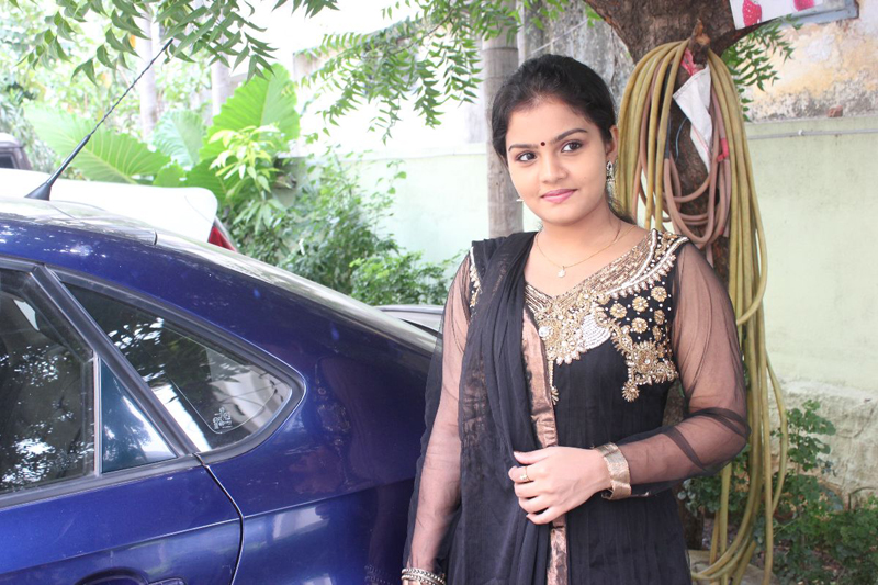 Preethi Shankar In Cute Black Designer Salwar Kameez At