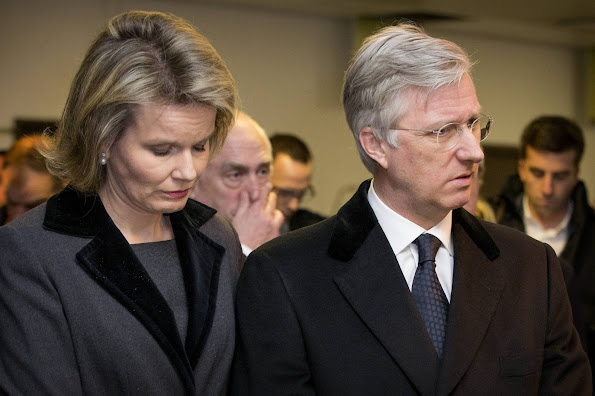 Brussels Airport and the Brussels metro , King Philippe and Queen Mathilde of Belgium visited Erasmus Hospital in Anderlecht