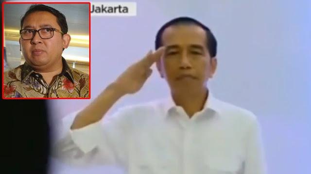 Jokowi Hormat Saat Indonesia Raya Berkumandang di KPU, Fadli Zon Menanggapi