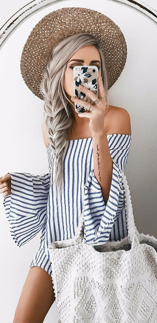 summer stripes / outfit idea
