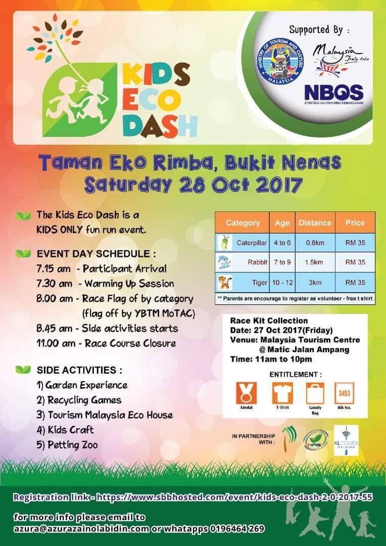 Kids Eco Dash 2.0 2017 Taman Eko Rimba, Bukit Nenas Forest Reserved Menara Kuala Lumpur