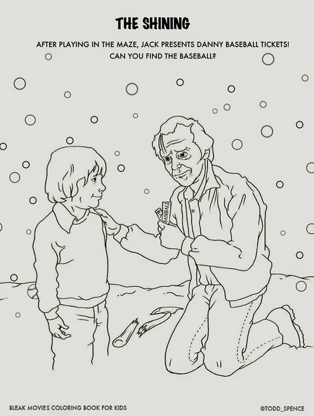 Talk Stephen King: Bleak Movies Colouring Book: THE SHINING