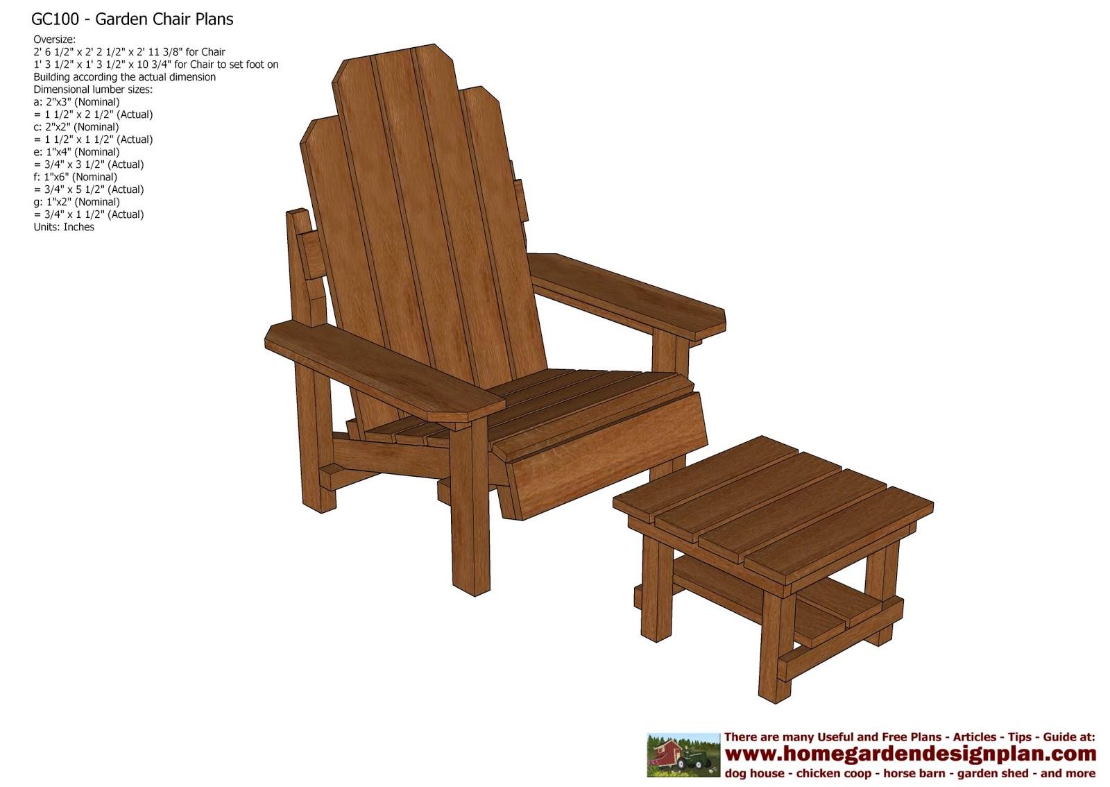 wood patio chair plans danish dining home garden gc100 out door