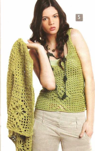 Patron #1492: Blusa a Crochet